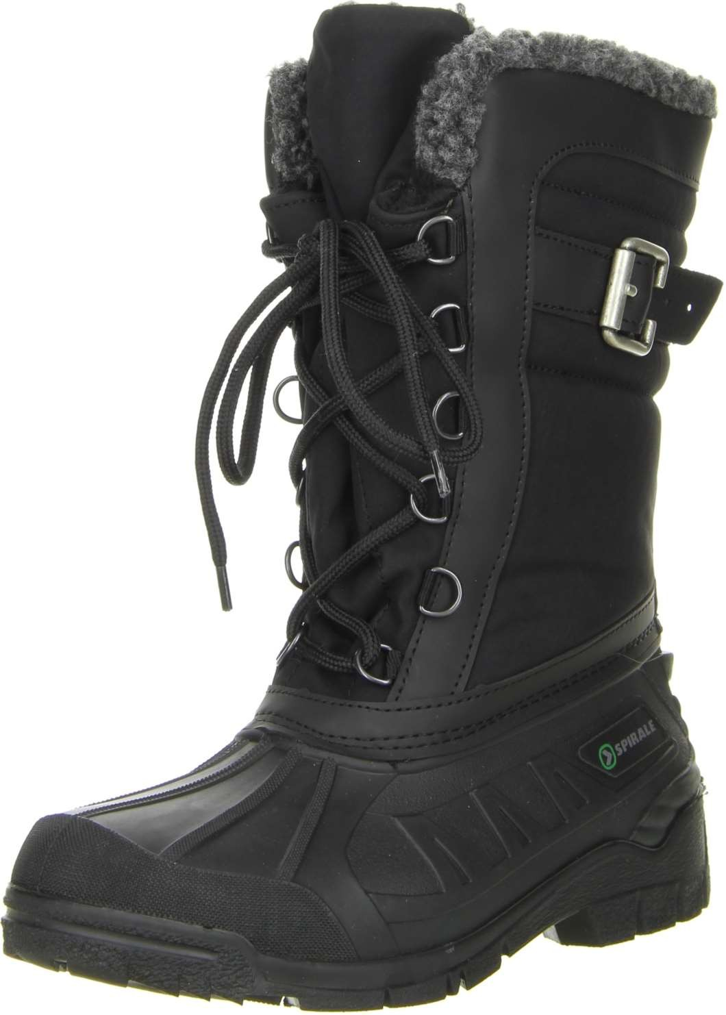 spirale damen winterstiefel snowboots schwarz damenschuhe winterstiefel. Black Bedroom Furniture Sets. Home Design Ideas